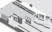 3d CAD model of renovation